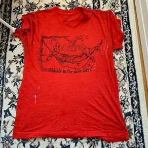 Vintage Tops - Vintage Maine lover t shirt